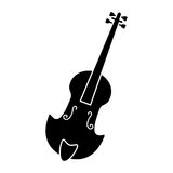Fiddle classical music instrument pictogram Royalty Free Stock Images