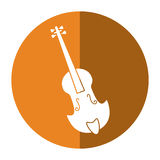 Fiddle classical music instrument shadow. Vector illustration eps 10 Stock Image