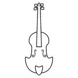Fiddle classical music instrument thin line Royalty Free Stock Photo