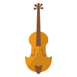 Fiddle classical music instrument. Vector illustration eps 10 Stock Images