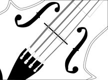 Fiddle Close Up Royalty Free Stock Images