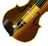 Fiddle Closeup. A typical violinor fiddle  over a white background Stock Image