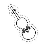 Fiddle instrument music cut line. Illustraiton eps 10 Royalty Free Stock Photos