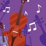 Fiddle instrumenten muzikaal pictogram stock illustratie