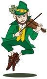 Fiddle-Jogando o Leprechaun Fotos de Stock Royalty Free