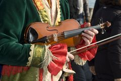 Fiddle - mask from venice carnival Stock Image