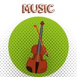 Fiddle muzikaal instrumentenpictogram stock illustratie