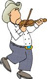 Fiddle Player. This illustration that I created depicts a country music fiddle player Stock Photo