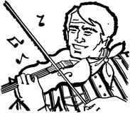 Fiddle Player Royalty Free Stock Image