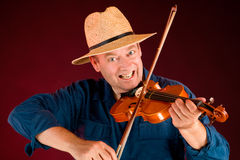 Fiddle Player royalty free stock photos