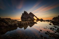 Free Fiddle Rock Sunrise Stock Images - 125690384