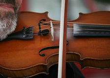 Fiddler. Playing for a group of folk dancers - Denmark Royalty Free Stock Photo