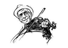 Fiddler illustration. Fiddler vector illustration on white Stock Photos
