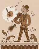 Fiddler.  Royalty Free Stock Photography