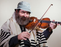 Fiddler With A Prayer Shawl Stock Photo