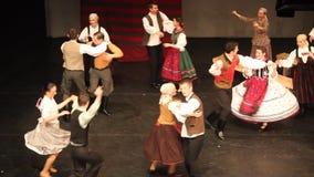 The fiddlers - dance ensemble Háromszék stock footage