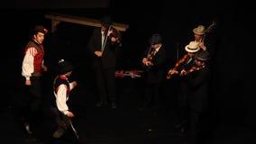 The fiddlers - dance ensemble Háromszék stock video footage