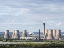 Fiddlers Ferry nuclear power plant in Warrington, Cheshire, in North West of England. Energy station which is capable of co-firing biomass. British engineering stock photos