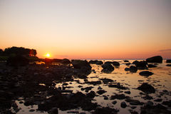 Fiddlers' Green Beach Sunset Royalty Free Stock Photo
