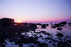 Fiddlers' Green Beach Sunset Royalty Free Stock Image
