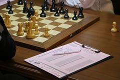 FIDE妇女的世界棋冠军比赛Mariya Muzychuk对侯逸凡 免版税库存照片