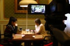 FIDE Women's World Chess Championship Match Mariya Muzychuk vs Hou Yifan Stock Photo