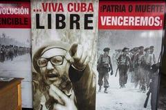 Fidel Castro Bay von Schwein-kubanischen Revolutions-Kampf-Bildern Playa Giron Kuba stockbild