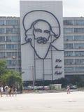 Fidel Castro em Plaza de Revolução Fotografia de Stock Royalty Free