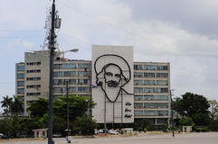 Fidel Castro Monument in Plaza de la Revolucion (Revolution Square) Stock Photos