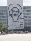 Fidel Castro w Placu De Rewolucja Fotografia Royalty Free