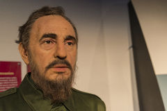 Fidel castro wax replica Royalty Free Stock Images