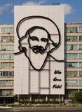 Fidel- Castrodenkmal in Plaza de la Revolucion. stockfoto