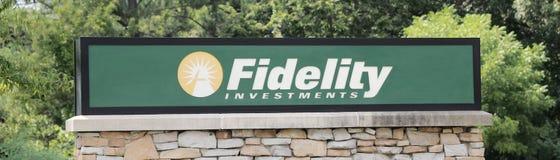 Fidelity Investments Podpisuje Zdjęcia Royalty Free