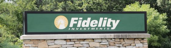 Fidelity Investments Sign Royalty Free Stock Photos