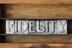 Fidelity word tray Stock Image