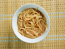 Fideo Soup. Tex-Mex Fideo Soup.mexican version of past.Mexican Pasta with Vegetables and Chile Stock Image