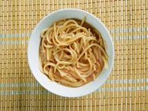Fideo-Suppe stockbild
