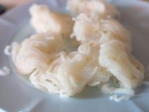Fideos del arroz en Phechabun Tailandia fotos de archivo