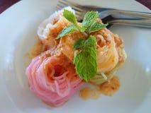 Fideos tailandeses del arroz Imagenes de archivo
