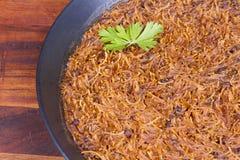 Fideua готовое для еды Стоковые Фотографии RF