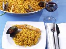 Fideua - de paella van de Noedel Royalty-vrije Stock Afbeelding