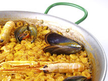 Fideua – Noodle paella Stock Photos