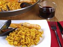 Fideua – Noodle paella Royalty Free Stock Photography