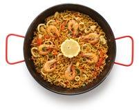 Fideua, paella da massa, culinária espanhola Foto de Stock