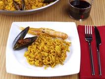 Fideua - Paella de nouille Image libre de droits