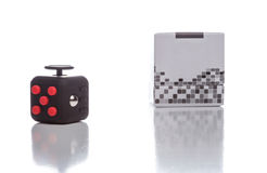 Fidget Cube simple stress reliever Royalty Free Stock Photo