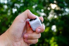 Fidget cube Royalty Free Stock Image
