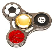 Fidget finger spinner stress, anxiety relief toy.  stock photography