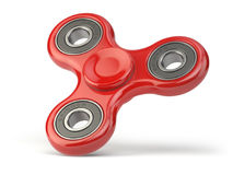 Fidget finger spinner stress, anxiety relief toy isolated on white backround. 3d illustration Stock Photos