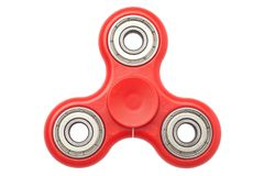 Fidget hand spinner finger tips gyro stress anxiety relief toy. Isolated on white background stock photography